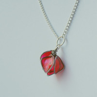 Spring Rose Petal Necklace by nnvillan on Etsy