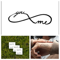 Infinity  temporary tattoo Set of 6 by Tattify on Etsy
