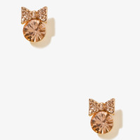 Bejeweled Bow Studs