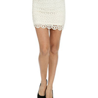 Medallion Crochet Bodycon Skirt | Shop Sale at Wet Seal