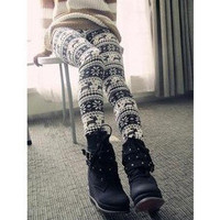 Deer Pattern Design Korean Japanese Fashion Stylish Cute Stocking Legging