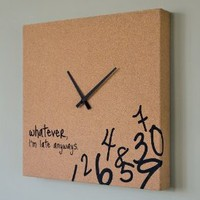 Amazon.com: Cork Clock with Black Hands: Home & Kitchen