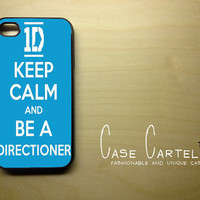Apple iPhone 4 4G 4S  Case Skin Cover Keep Calm and Be a Directioner One Direction  Available in Black, Clear, or  White Hard Case.