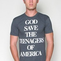 GOD SAVES TEE MENS CREW NECK T-SHIRT - Glamour Kills Clothing