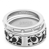 Coach :: Enamel Signature Ring Set
