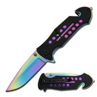 Amazon.com: Spring Assisted Rainbow Rescue Tactical Folder Pocket Knife: Sports & Outdoors