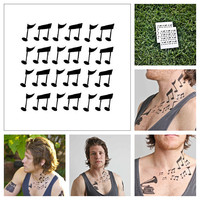 Musical Notes  temporary tattoo Set of 2 by Tattify on Etsy