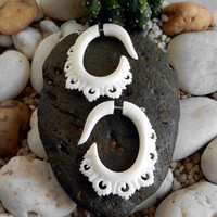 $20.00 Organic Bone Earrings  Venetian Lace by TheEarringChest