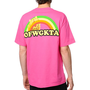 Odd Future Rainbow Cat Hot Pink Tee Shirt