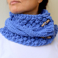$29.00 Azure Blue Knit Cable by warmandsoft