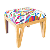 Mexican Otomi Upholstered Ottoman by peterwgilroy on Etsy