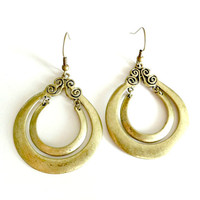 Ancient Goddess Double Hoop Earrings