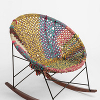 Hand-Woven Rocker- Brown One