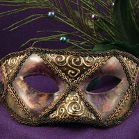 Old Orleans Sir Mask for Mardi Gras/Costume/Masquerade/Halloween/Prom