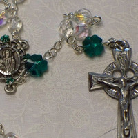 St Patrick rosary crystal by HeavenlyDews on Etsy