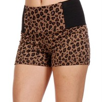 Leopard Banded Mini Shorts