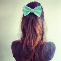 mint big hair bow by colordrop on Etsy