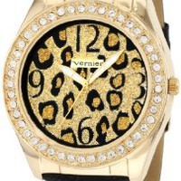 Vernier Women's VNR11035 Round Crystal Bezel Bracelet Fashion Watch: Watches: Amazon.com