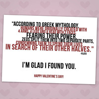 Folded Greek Mythology - Valentine's Day Card