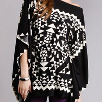 Aztec Graphic Tie Dress in  Dresses at Frock Candy