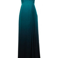 Valentino Pleated ombré silk-chiffon gown - 75% Off Now at THE OUTNET