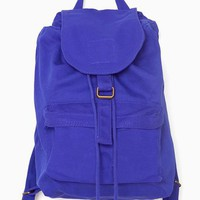 I always end up falling in love with blue backpacks.