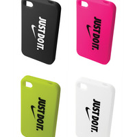 NEW NIKE JUST DO IT OFFICIAL ORIGINAL GRAPHIC SOFT IPHONE 4 4S PHONE CASE COVER