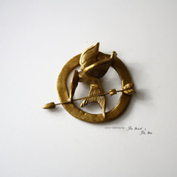 MockingJay Hunger Games Pin by TheBirdTheBee on Etsy