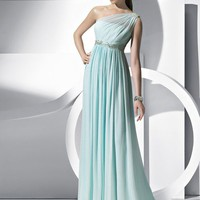 SinoSpecial.com — Holy A-line One-shoulder Floor Length Chiffon Prom Dress