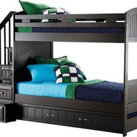 Cottage Colors Black Twin/Twin Step Bunk Bed