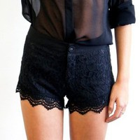 Sexy Little Teel & Lace Shorts Blac.. on Luulla