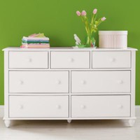 Kids&#x27; Dressers: Kids 7-Drawer White Jenny Lind Dresser