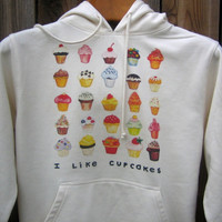 Cupcakes Hoodie by LittleIslandCompany on Etsy