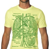 Organs TShirt Vintage Anatomy Tee MENS Shirt by nonfictiontees