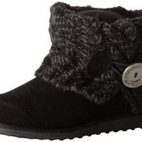 Muk Luks Women's Pattie Boot, Ebony, 6