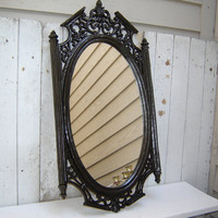 Ornate Mirror Oiled Bronze /  Black  Framed Mirror