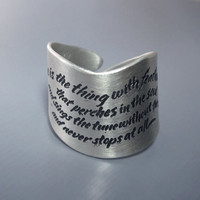 $90.00 Hope is the Thing With Feathers Ring  Emily by lisahopkins on Etsy