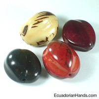 Chinese Fruit Tagua Bead | Tagua Bead for Beading Jewelry: Nuts | EcuadorianHands.com