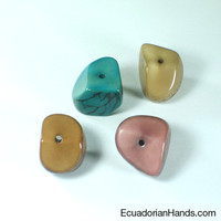 Four Cuts Seed Tagua Bead | Tagua Bead for Beading Jewelry: Nuts | EcuadorianHands.com