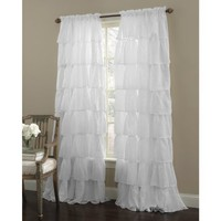 Gypsy Ruffled Panel White