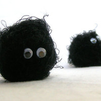 Soot Sprite Amigurumi set of 3 by NikisKnerdyKnitting on Etsy