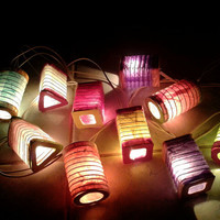20 Mix  Color Thai Paper Lantern Fairy String Lights Patio Party