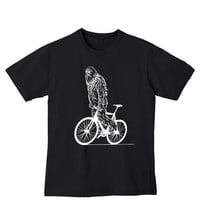 Chewbacca Rides a Bike Star Wars Mens Black by SandboxClothing