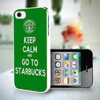 YDP 0754 Keep Calm and Go To Starbucks  - Custom Design For iPhone 5 Plastic Case And iPhone 4 case - Black / White