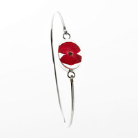 Real Poppy Bangle : Welcome to the Imperial War Museum Online Shop