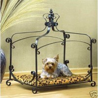 Amazon.com: Luxury Royal Princess Iron scroll Canopy Dog Cat Pet Bed Furniture small 25 x 18: Everything Else