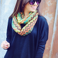Chic In Her Chevron Scarf: Multi | Hope's