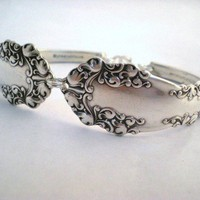 Spoon Bracelet Antique Silverware Jewelry by monpetitchouboutique