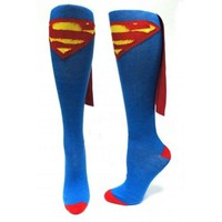 Amazon.com: Superman Logo DC Comics Superhero Cape Knee High Socks: Clothing