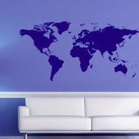 World Map - Wall Decals | My Wall Decal Shop | Decorating Ideas &amp; Wall Stickers